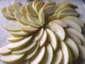 Apple Blue Cheese Tart sliced apples